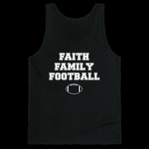 Faith, Family, Football Tank Top