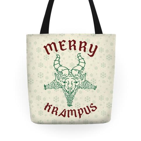 Merry Krampus Tote