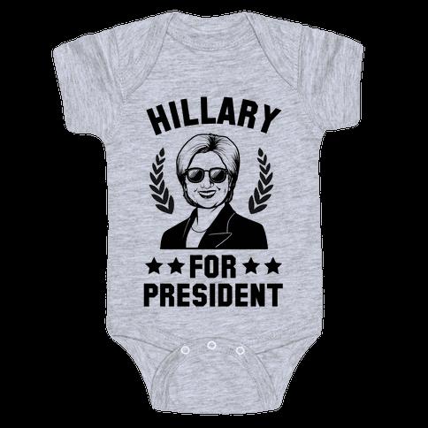 Hillary for President Baby Onesy