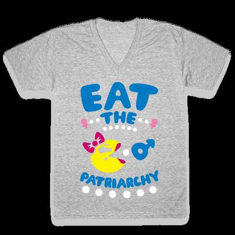 Eat The Patriarchy V-Neck Tee Shirt