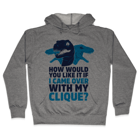 How Would You Like it If I Came Over With My Raptor Clique Hooded Sweatshirt