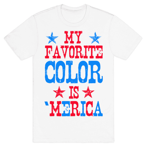 My Favorite Color is 'Merica! Mens T-Shirt
