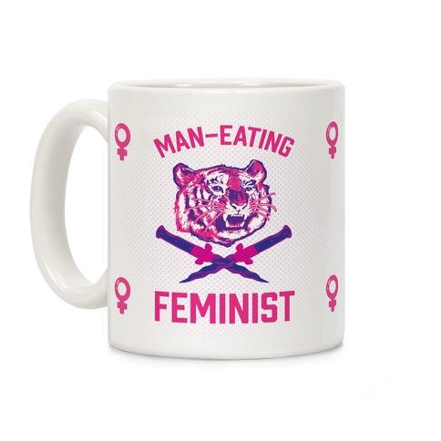Man-Eating Feminist Coffee Mug