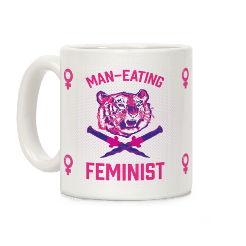 Man-Eating Feminist Coffee Mug