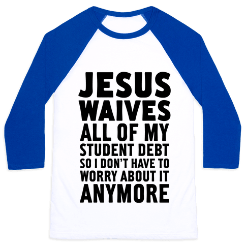 Jesus Waives Baseball Tee
