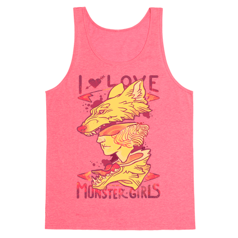 I Love Monster Girls Tank Top