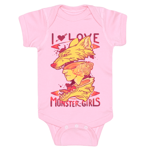 I Love Monster Girls Baby Onesy