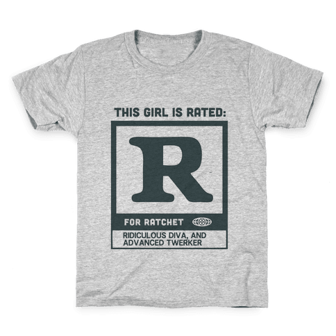Rated R for Ratchet (alternate) Kids T-Shirt