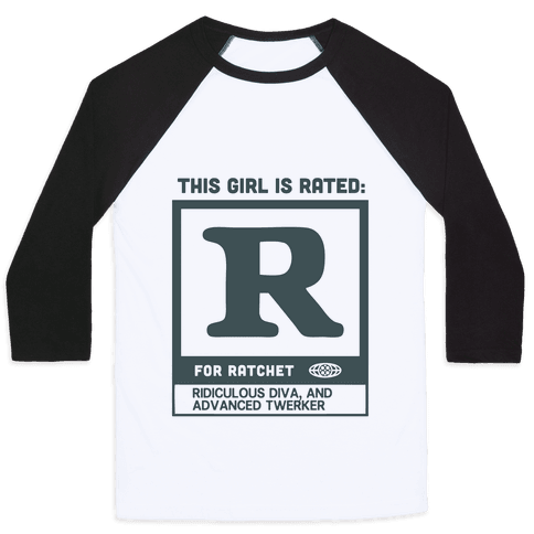 Rated R for Ratchet (alternate) Baseball Tee