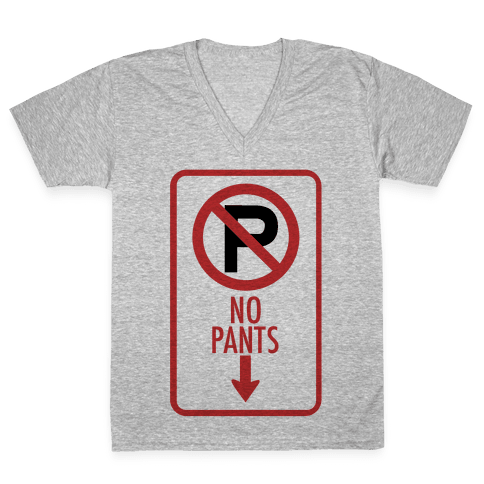 No Pants V-Neck Tee Shirt