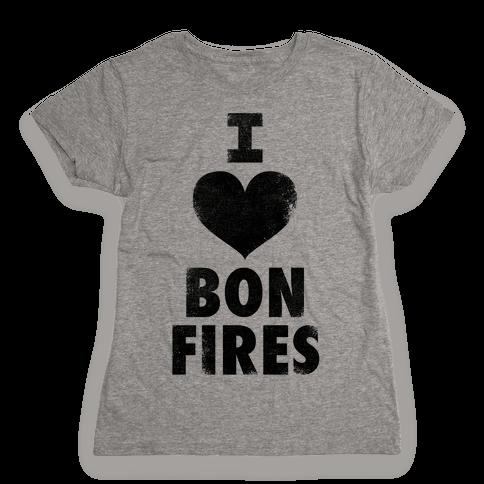 I Heart Bonfires Womens T-Shirt