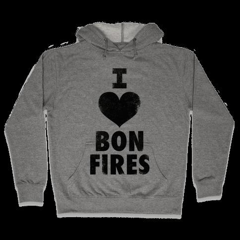 I Heart Bonfires Hooded Sweatshirt