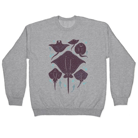 Family Of Stingrays Pullover