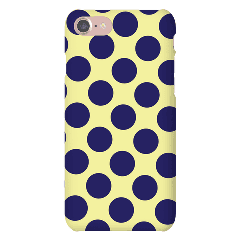 Navy Polka Dot Case Phone Case