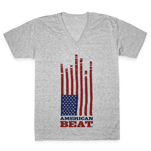 American Beat V-Neck Tee Shirt