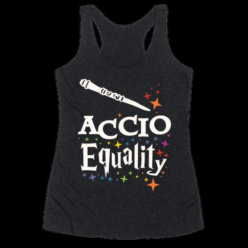 Accio Equality! Racerback Tank Top