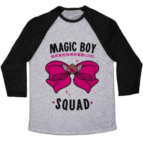 Magic Boy Squad (Pink) Baseball Tee