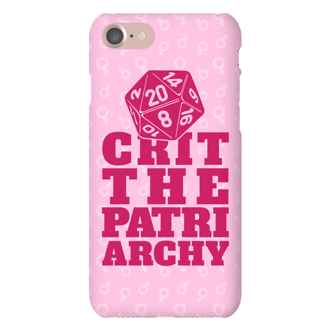 Crit The Patriarchy Phone Case