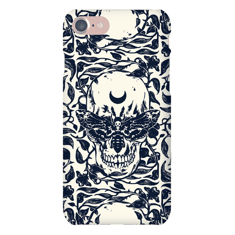 Skull Moth Phone Case