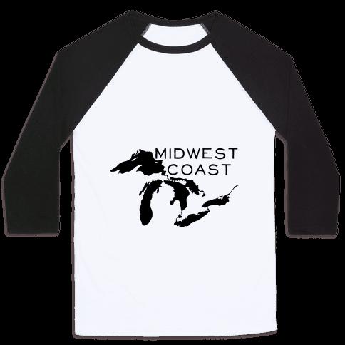 Midwest Coast Baseball Tee