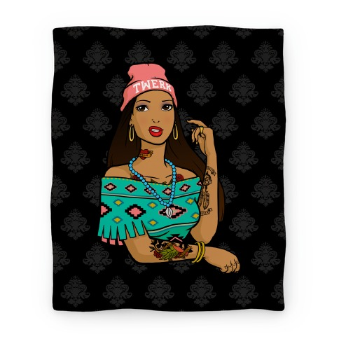 Hipster Pocahontas Blanket