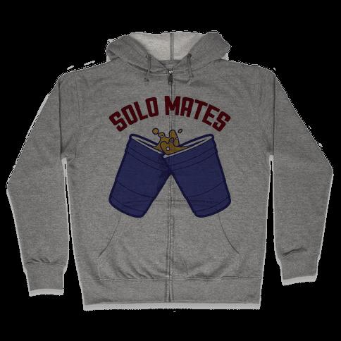 Solo Mates (Blue) Zip Hoodie