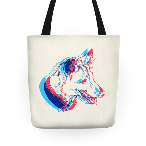 3D Dog Head Tote