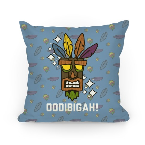 Crash Aku-Aku Mask Pillow