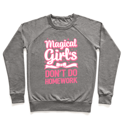 Magical Girl's Don't Do Homework Pullover