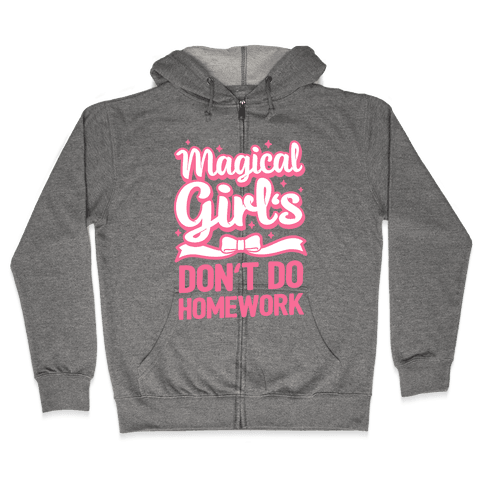 Magical Girl's Don't Do Homework Zip Hoodie