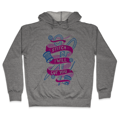 Stitch I Will Cut You Hooded Sweatshirt