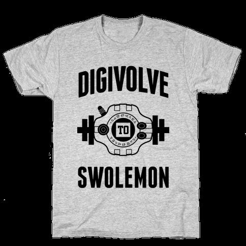 Digivolve to Swolemon! Mens T-Shirt