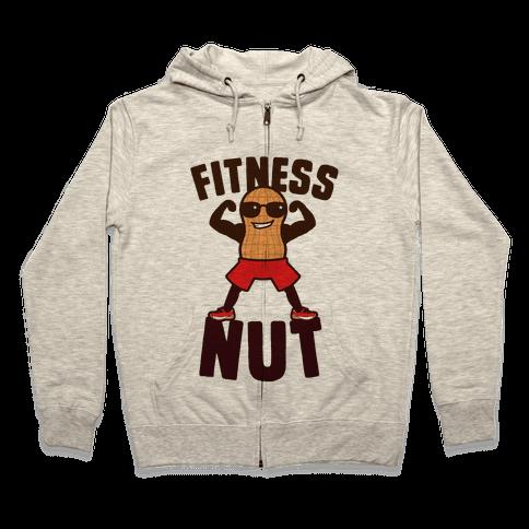 Fitness Nut Zip Hoodie