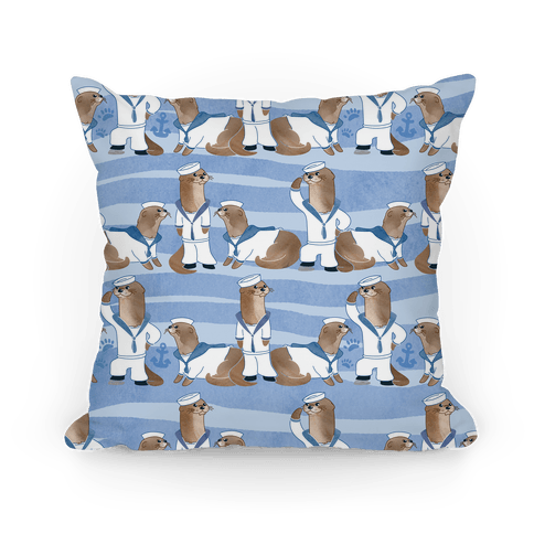 Sea Sailor Otters Pillow