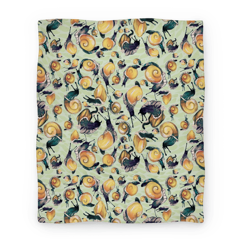 Golden Snail Shells Blanket