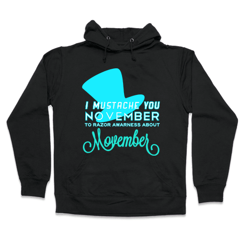 Punache Mustache Hooded Sweatshirt