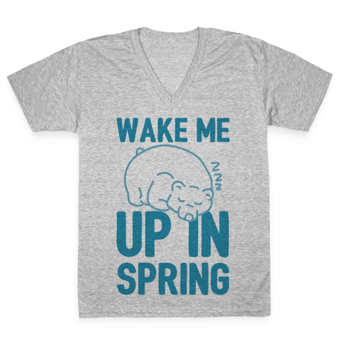 Wake Me Up In Spring V-Neck Tee Shirt