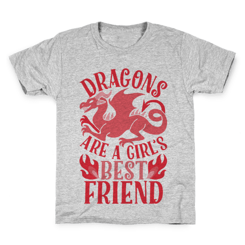 Dragons Are A Girl's Best Friend Kids T-Shirt