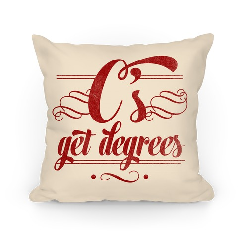 C's Get Degrees (Red) Pillow