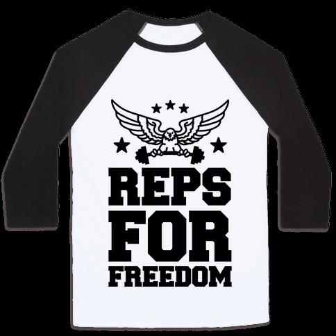 Reps For Freedom Baseball Tee