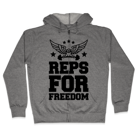 Reps For Freedom Zip Hoodie