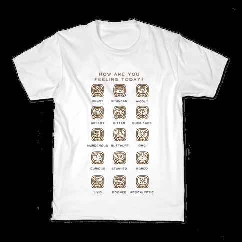 Mayan Mood Chart Kids T-Shirt
