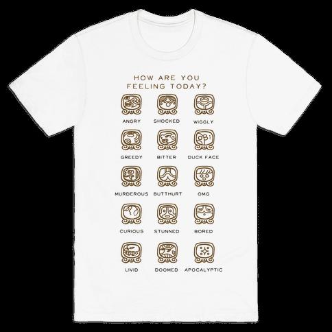 Mayan Mood Chart Mens T-Shirt
