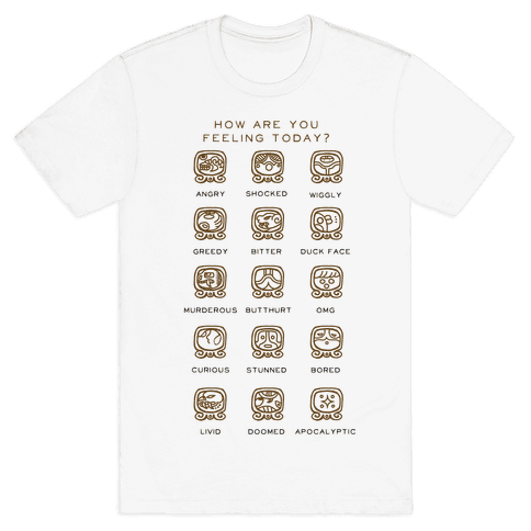 Mayan Mood Chart Mens T-Shirt