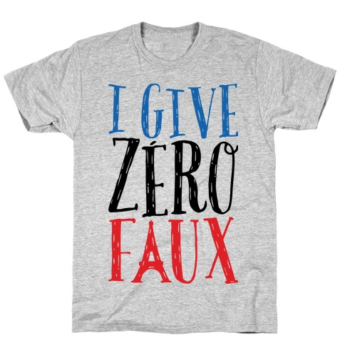 I Give Zero Faux Mens T-Shirt