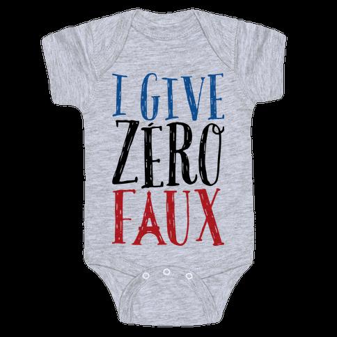 I Give Zero Faux Baby Onesy