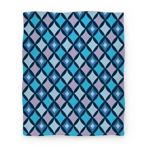 Diamond Pattern Blanket (Blue) Blanket