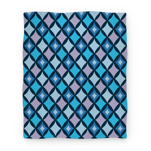 Diamond Pattern Blanket (Blue) Blanket