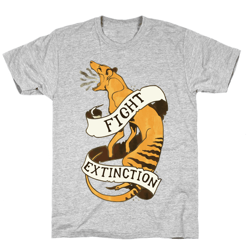 Fight Extinction Mens T-Shirt