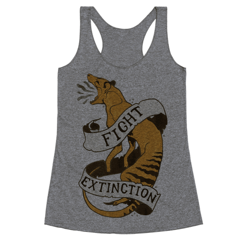 Fight Extinction Racerback Tank Top